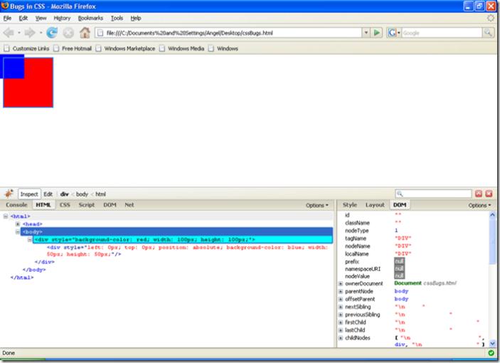 IE developer toolbar